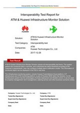 «Huawei Interoperability Test Report for Infrastructure Monitor Solution»